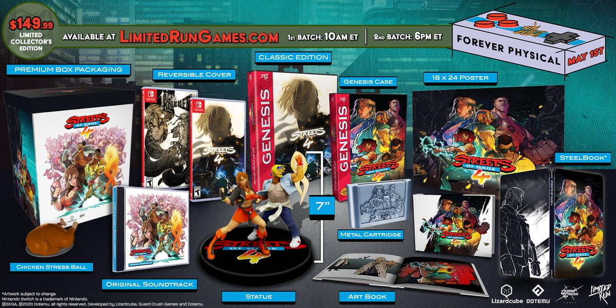 Limited Run Games annonce l'édition collector de Streets of Rage 4 | My Nintendo News