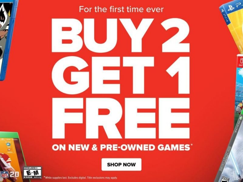 La vente GameStop Memorial Day démarre avec B2G1 sur les nouveaux jeux et les jeux d'occasion