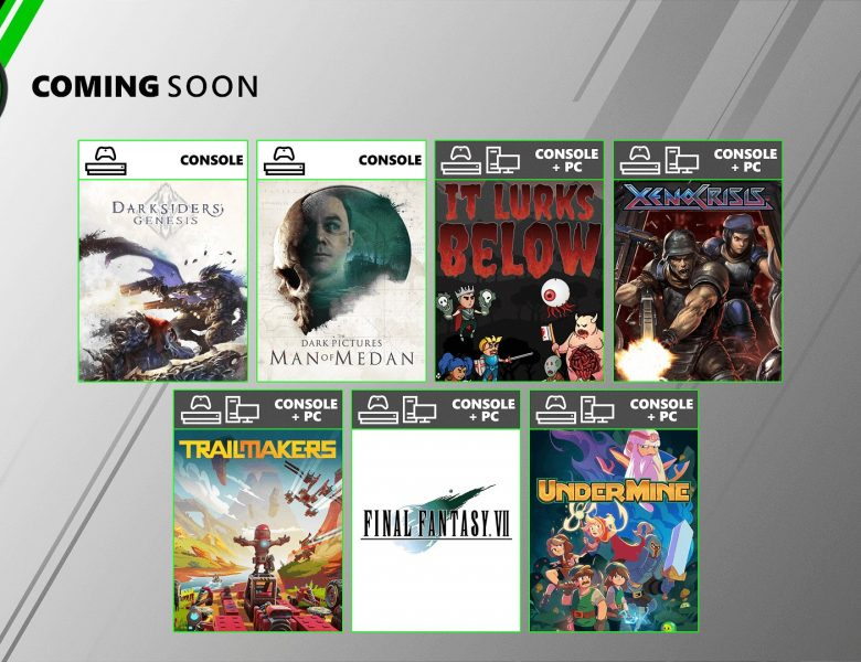 Bientôt sur Xbox Game Pass pour console et PC: The Dark Pictures: Man of Medan, Final Fantasy VII HD, Darksiders: Genesis, et plus