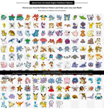 masques pokemon