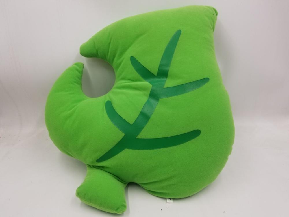 Coussin feuille Animal Crossing