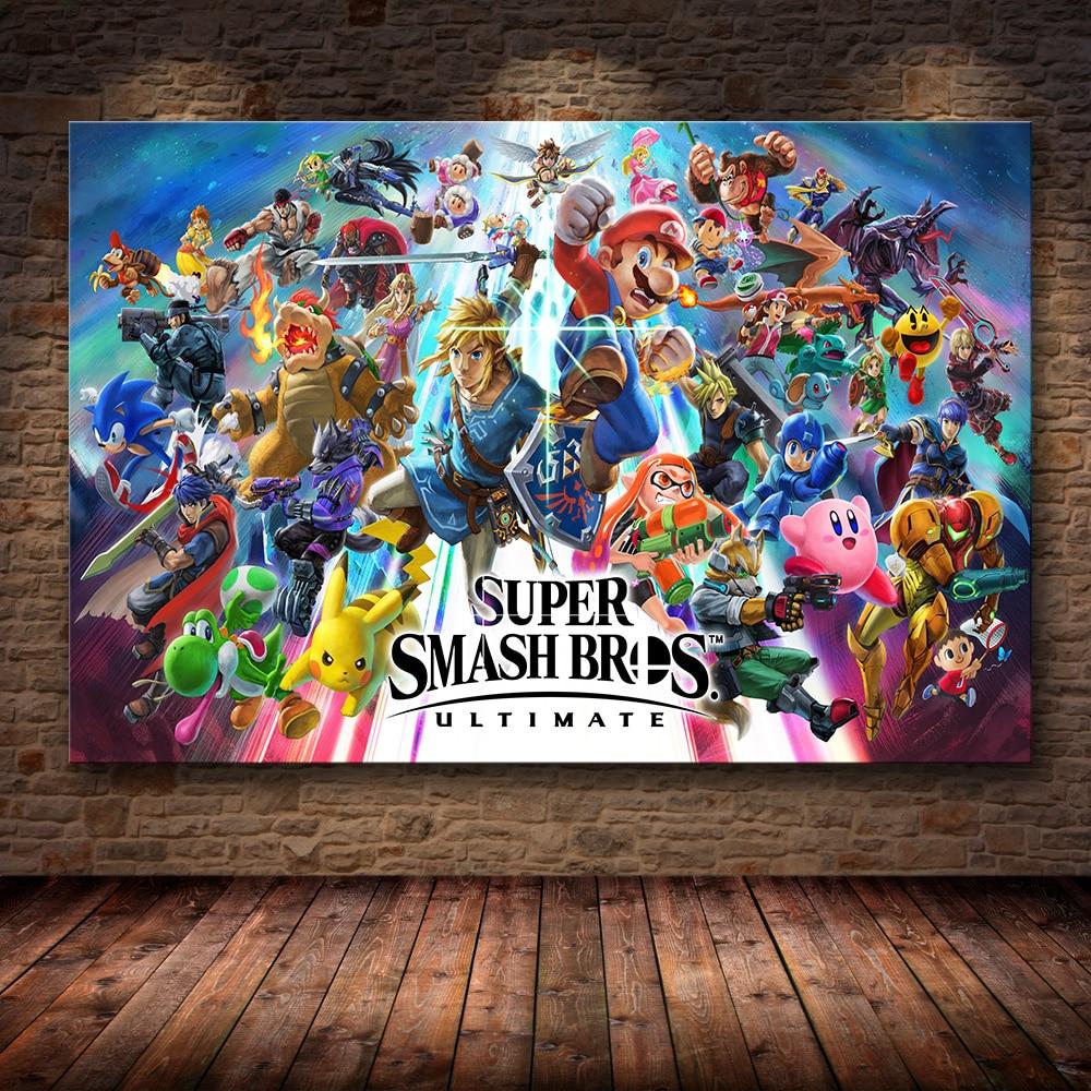Affiche murale Super smash bros