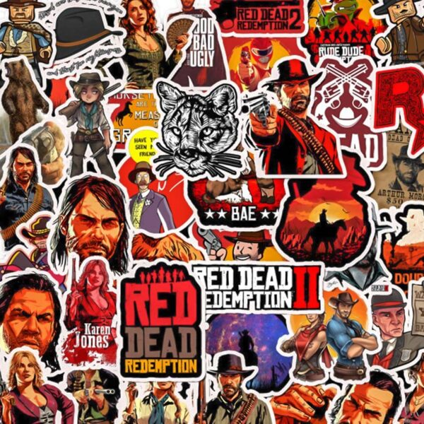 Lot autocollant red dead redemption