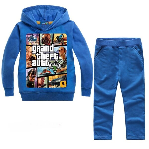 Ensemble GTA V Bleu