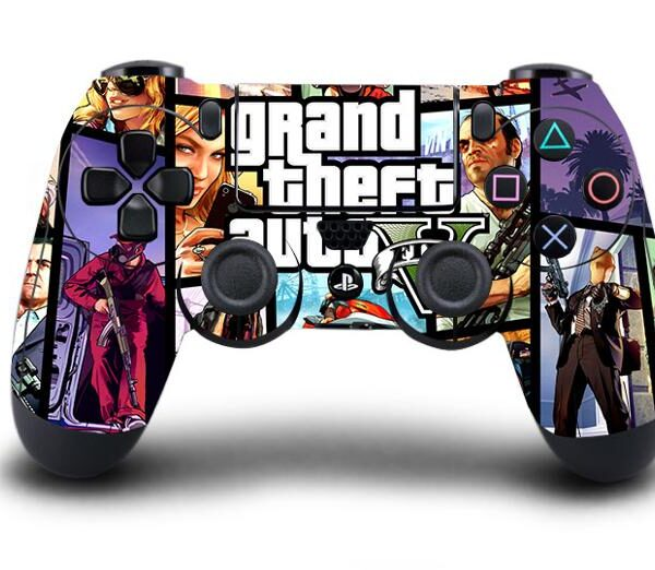 Sticker PS4 Manette GTA Violette