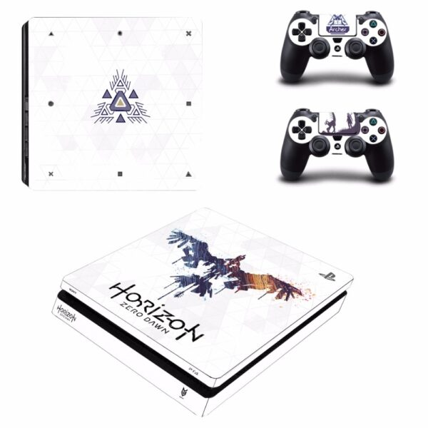 Stickers PS4 Horizon Dawn Blanc