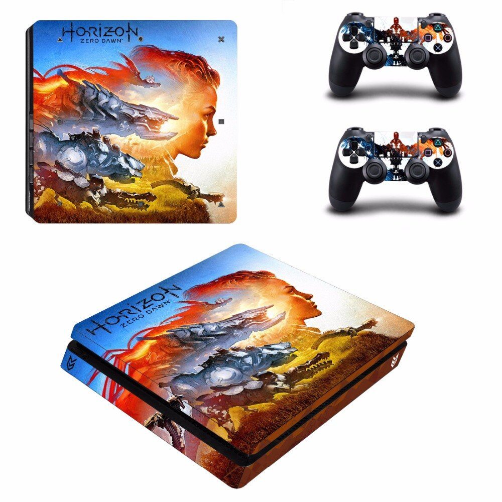 Stickers PS4 Horizon Dawn Rouge