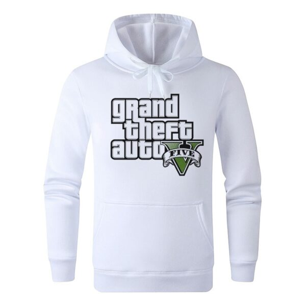 Sweat à capuche Blanc GTA