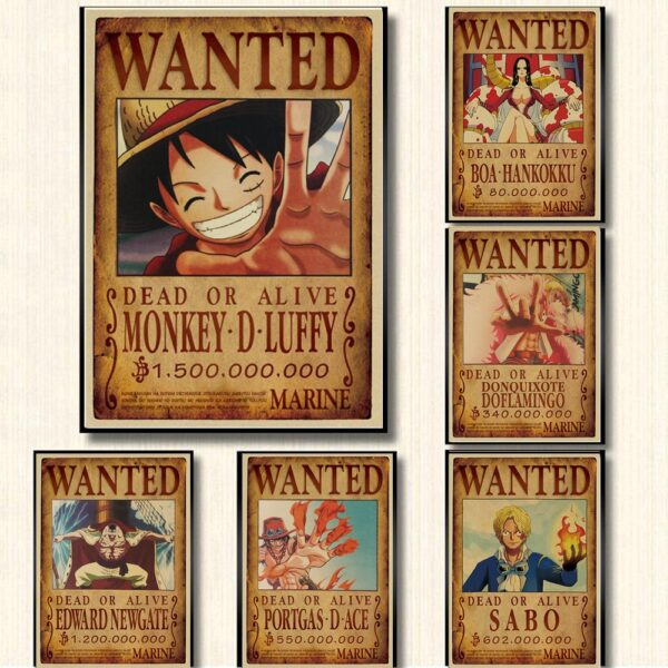 Affiche Wanted One Piece