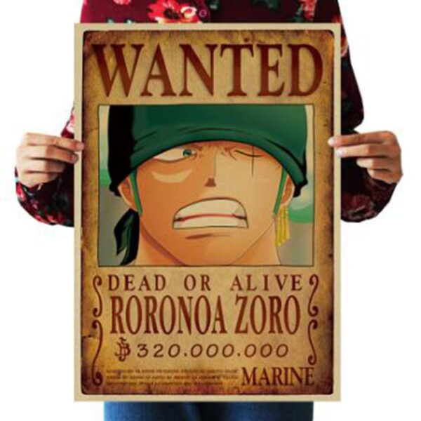 Affiche Wanted One Piece Roronoa Zoro