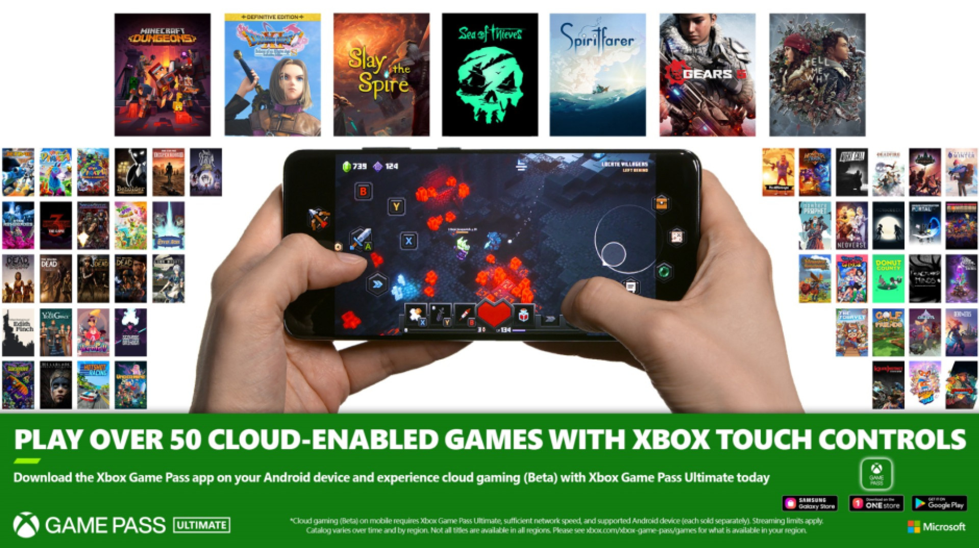 Commandes Xbox Touch