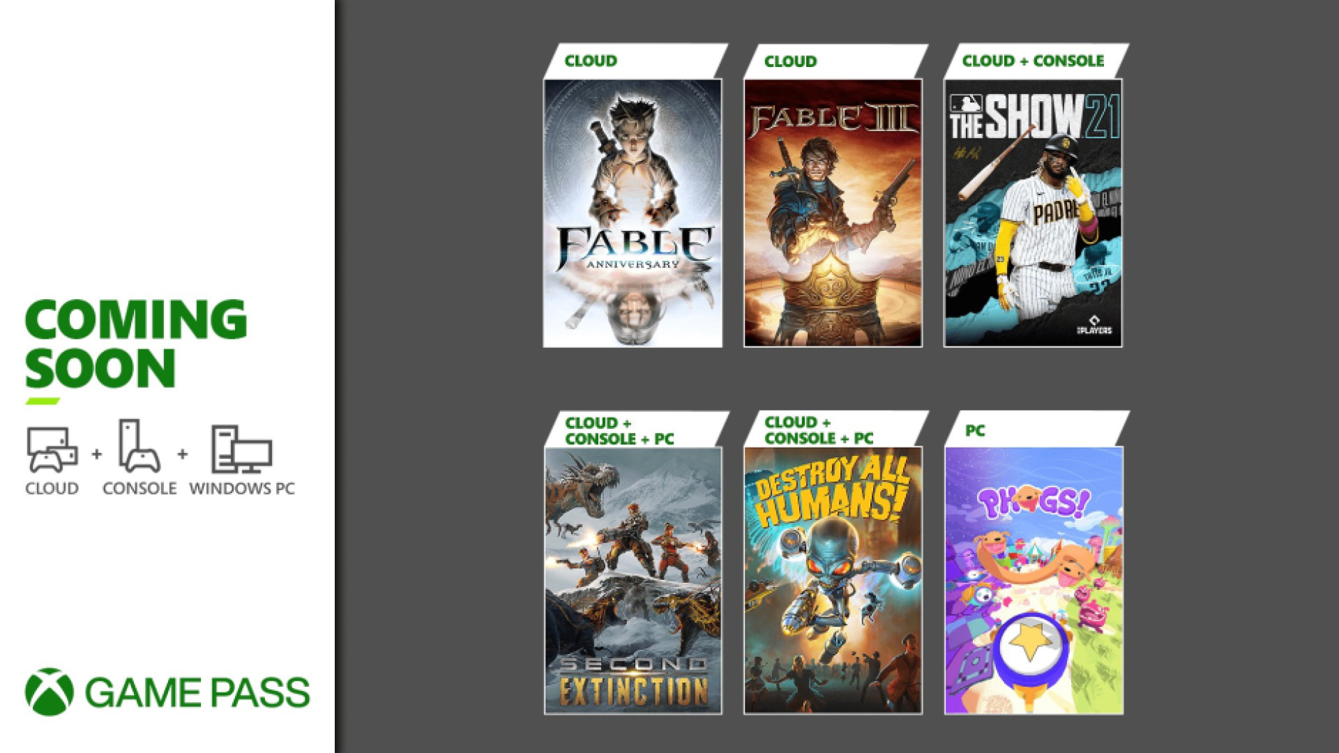 Mise à jour Xbox Game Pass - 20 avril