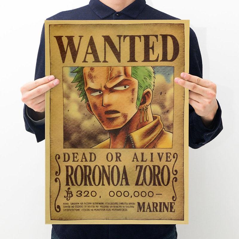affiche one piece roronoa zoro